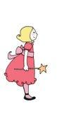 девушка фе цвета Стоковое фото RF