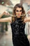 Девушка фотомодели красоты фасонируйте взгляд Ювелирные изделия, дизайн, оформление Стоковые Изображения RF