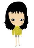 девушка характера Стоковые Изображения RF