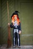 Девушка хеллоуина Стоковые Изображения RF
