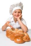 девушка хлебопека стоковая фотография rf