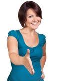 Девушка хочет трясти руки Стоковое фото RF