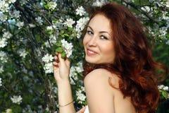 девушка цветения Стоковые Изображения RF