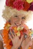 девушка цветка милая стоковые фотографии rf