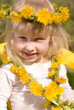 девушка цветка немногая венок стоковое фото rf