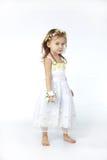 девушка цветка платья младенца Стоковое Изображение RF