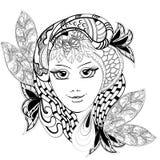 Девушка цветка фантазии Стоковое Фото