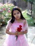девушка цветка Стоковое Изображение RF