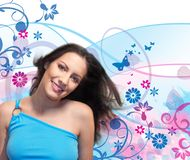 девушка цветка 5 Стоковое фото RF