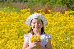 девушка цветков меньшяя рудоразборка Стоковое Изображение RF