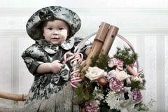 девушка цветков немногая Стоковая Фотография RF