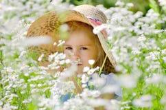 девушка цветков Стоковые Фотографии RF
