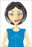девушка центра телефонного обслуживания Стоковое Изображение RF