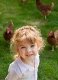 девушка цыпленка Стоковая Фотография RF