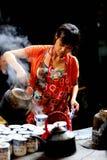 Девушка чайного домика стоковые фото