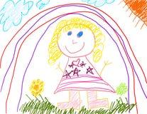 девушка чертежа меньший s Стоковое фото RF