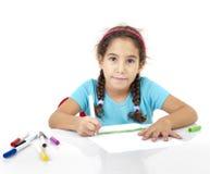 девушка чертежа немногая стоковые изображения