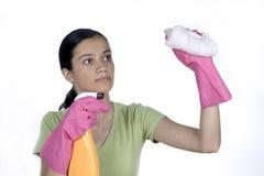 девушка чистки Стоковые Изображения RF