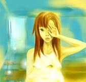 девушка шаржа Стоковое Фото