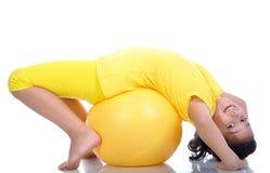 девушка шарика красивейшая немногая желтый цвет Стоковые Фото