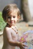 девушка шарика немногая Стоковое Изображение