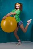девушка шарика Стоковые Фото