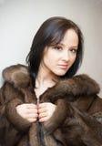 девушка шерсти пальто Стоковые Изображения RF