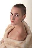 девушка шерсти пальто Стоковая Фотография