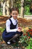 Девушка школы внешняя Стоковые Фото