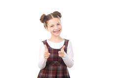 Девушка школы указывая на вас Стоковые Фото