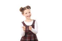 Девушка школы указывая на вас Стоковое Фото