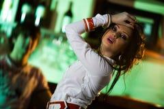 девушка штанги славная Стоковая Фотография RF