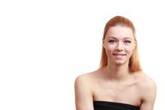Девушка штиля близкий портрет вверх Стоковое Изображение