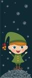 девушка эльфа рождества Стоковое Изображение
