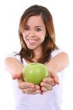 девушка яблока красивейшая Стоковое Фото