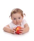 девушка яблока немногая красное Стоковое фото RF