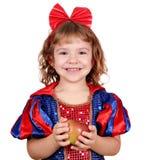 девушка яблока немногая Стоковые Фотографии RF