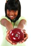 девушка яблока Стоковое фото RF