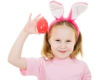 девушка яичка ушей зайчика немногая пинк Стоковая Фотография