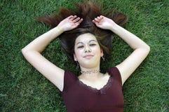 девушка 12 outdoors стоковое фото rf