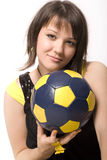 девушка 13 шариков Стоковое Изображение
