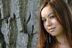 девушка 13 outdoors стоковое изображение rf