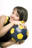 девушка 14 шариков Стоковая Фотография