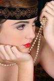 девушка 1920 Стоковое фото RF