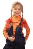 девушка 2 веселая Стоковое Изображение