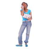 девушка 3 афроамериканцев плача Стоковое Изображение