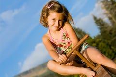 девушка 6 меньший seesaw Стоковое фото RF