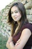 девушка 7 outdoors стоковое фото