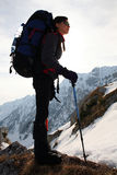 девушка alpinist Стоковое Фото