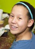 Девушка Amerasian с большой улыбкой Стоковые Изображения RF